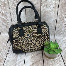 Loungefly Loves Hello Kitty Sanrio Leopard Satchel Purse Black Trim Accents Love