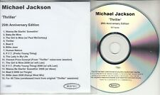MICHAEL JACKSON Thriller: 25th Anniversary UK numbered 16-track promo test CD