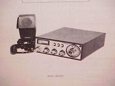 1977 SHAKESPEARE CB RADIO SERVICE SHOP MANUAL MODEL GBS2500