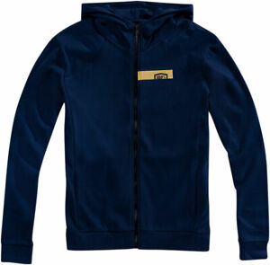 100% MX Motocross CHAMBER Zip-Up Hoodie Sweatshirt (Navy/Gold) Choose Size
