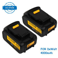 2PCS 4000mAh Li-ion 20V Battery for DeWalt DCB200 DCB204 DCB205-2 DCB205
