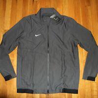 Nike Football Dri-Fit Team Travel Jacket Mens L AH7765-060 Full Zip New $135