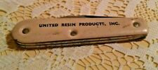 UNITED RESIN PRODUCTS KNIFE USA BLADE SCREWDRIVER BOTTLE OPENER VINTAGE USED.