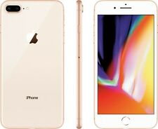 UNLOCKED Apple iPhone 8 Plus + 256GB Gold 4G LTE A1864 Smart Video Cell Phone :