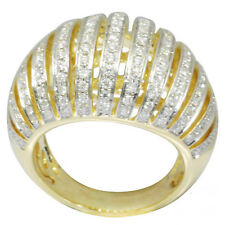De Buman 18K Yellow Gold 1.32ctw Diamond Luxurious Ring, Size 7