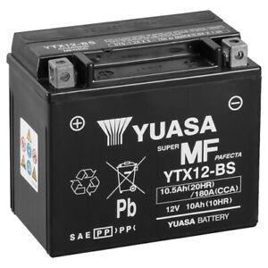 YUASA 12N10-3B Motorradbatterie 12V 10Ah trocken vorgeladen