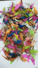 7 MIX INDIAN SADDLE  ( Grizzly/Mix Colors) STREAMERS & WET FLIES