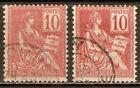 1900 - Mouchon (Type II) 10c.rouge - n°116 Impression dépouillée