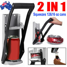 Wall Mount Can Crusher Beer Soda Smasher 16oz Aluminium Recycling Bottle Opener