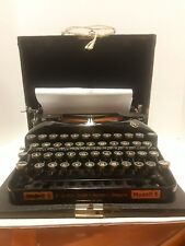 Vintage Erika Seidel & Nauman Dresden Modell S Germany Black Typewriter & Case