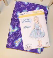 Daisy Kingdom Simplicity 3862 Dress Pattern Sizes 3, 4, 5 & 6  Tinkerbell Fabric