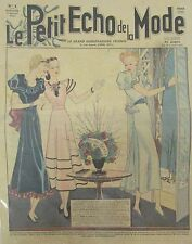 LE PETIT ECHO DE LA MODE N° 1 de 1937 GRAVURE VINTAGE HIVER FLEURS BONNE ANNEE