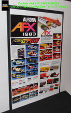 "Custom AFX Wall Art - AURORA ""The AFX 1983 Catalog Cars""  11W x 17T Hi QA POSTER"