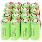 16 pezzi 2/3AA 1.2V 1800mAh Ni-MH ricaricabile batteria