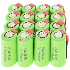 12 Piles AA rechargeables NiCd 1800mAh 1.2v Solar Light + 3x Case