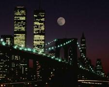 NEW YORK CITY: WTC TWIN TOWERS AT NIGHT  8 X 10 PHOTO- 008
