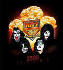 KISS 2003 Gold VIP Tour Tshirt with Laminate Medium M Large L Mens