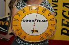 """Vintage 1940's Goodyear Tires Gas Station 12"""" Metal & Glass Thermometer Sign"""