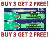 SONY 377 SR626SW (2 piece) SR626 V377 Watch Battery US seller BUY 3 GET 2 FREE