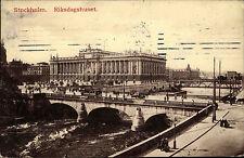 Stockholm Schweden Sverige 1909 Reichtagsgebäude Riksdagshuset 10 Öre Briefmarke