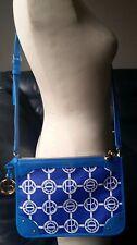 HENRI BENDEL MONOGRAM CROSSBODY BAG IN WHITE AND BLUE NWT