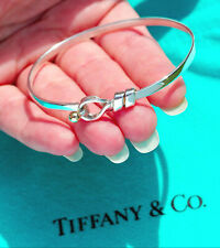 Tiffany & Co 18Ct 18K Oro Giallo Argento Sterling Gancio Braccialetto Bracciale