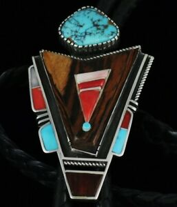 Jack Tom Yeibechai Design Inlay Bolo Tie