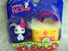 Littlest Pet Shop White *EASTER* BUNNY w/Carrier lot #211 Rare Retired NEW! NIB!