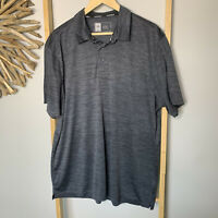 Active & Co Size 2XL Men's Fitness Polo Top Gym Workout Activewear  Grey XXL