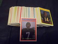 1972 OPC O-Pee-Chee CFL Complete Set #1-132 Theismann Lancaster Reed