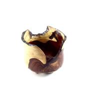 Natural Edge Wood Bowl Cocobolo handmade