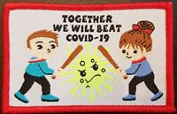 Together we will beat C0VID-19 Scout Guide Guiding badge patch patches badges