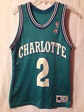 Vintage Larry Johnson Charlotte Hornets Teal #2 Champion Jersey Size 36 UNLV