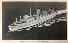 RPPC EMPRESS OF BRITAIN Canadian Pacific Liner Steamship ca 1930s Postcard