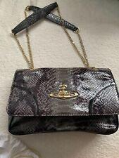 Vivienne Westwood Frilly Snake Cross Body Bag Grey Black