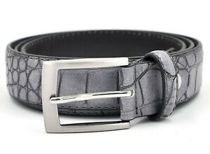 Luxury Crocodile Pattern Men Boys Fashion Faux Split Leather Designer Waist Belt