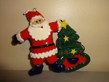 Santa Claus Ornament Holiday Christmas Tree Decoration Clay Dough