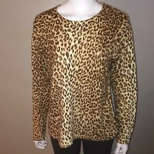 0902bb8df8d Cathy Daniels Sweater Size L Large Womens Knit Top Leopard Animal Long  Sleeve
