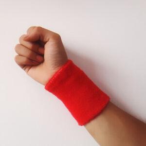 Unisex Cotton Wrist Wristband Sports Towel Sweatband Solid Sweat Band Yoga Gym