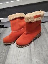 Women's Size 9 Boots Dark Orange New