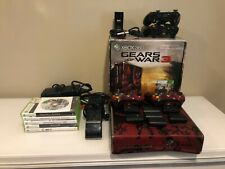 Xbox 360S GEARS OF WAR Limited Edition Console Bundle With 6 Games & Controllers