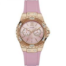 Guess Women's Iconic Rose-Gold Tone & Pink Rubber Quartz Watch W1053L3