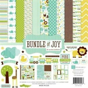 Baby Boy Blue Newborn Bundle of Joy Welcome 12 x 12 Echo Park Scrapbook Page Kit