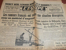 L'EQUIPE FOOTBALL NANCY - AVIRON PRIX ITALIE FANGIO OU FARINA 1950