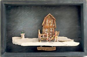 Vtg Folk Art Low Country Wood Sculpture Wall Art, Edwin H Stone - Kiawah Channel