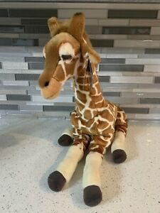 """Retired FAO Schwarz 18"""" Plush Giraffe Stuffed Toy from Toys R Us Collection"""