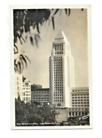 Vintage Postcard California The New City Hall Los Angeles RPPC