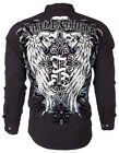 Xtreme Couture AFFLICTION Mens BUTTON DOWN Shirt KINGS FALL Roar UFC M-XXL $78