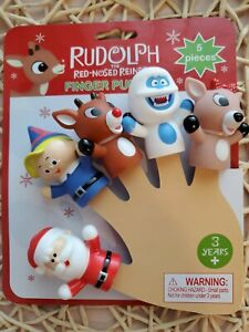 RUDOLPH RED NOSED REINDEER FINGER PUPPETS