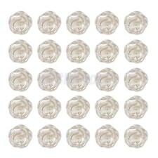 25 Flatback Resin Rose Flower Beads Stick on Craft Embellishment Ivory 11mm